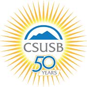 csusb 50 years logo
