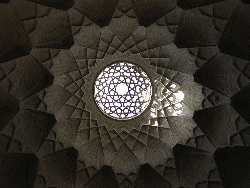 Ceiling vault of the old bazaar in Yazd, Iran, 2009. Photo taken by Professor David Yaghoubian.