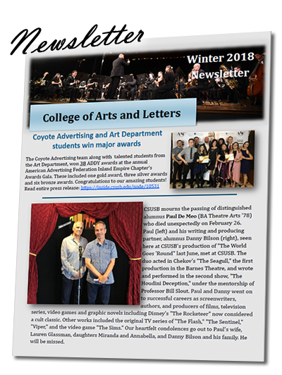 CAL Newsletter Winter 2018