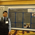 WPA 2012 Student in front of poster