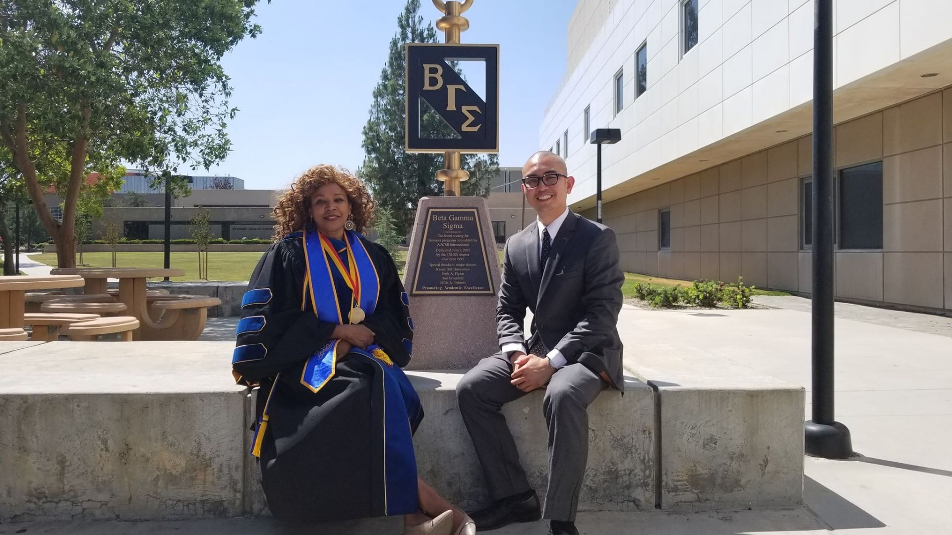 CSUSB's chapter of the Beta Gamma Sigma international business honor society joined the first-ever, society-wide BGS virtual recognition ceremony.