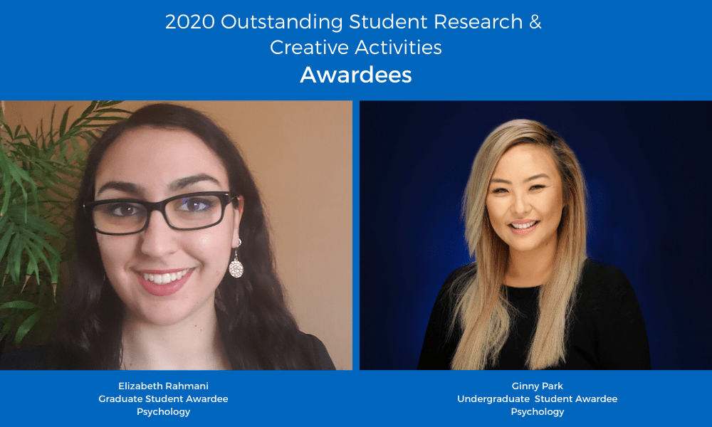 2020 Outstanding Student Research & Creative Activities Awardees