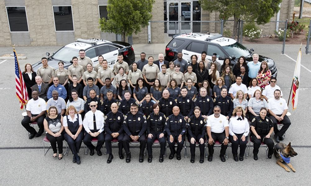 CSUSB University Police group photo