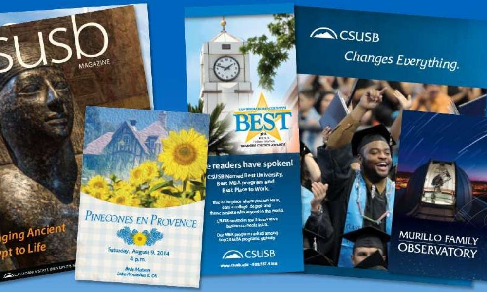 CSUSB magazines and pamphlets