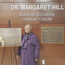 CSUSB alumna Margaret Hill. Photo courtesy of Corina Borsuk.