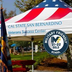 Cal State San Bernardino has been named a 2021-2022 Military Friendly® School.