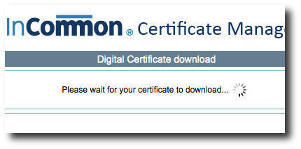 InCommon Certificate Generation