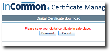 InCommon Certificate Download