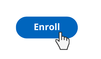 Button with a hand pointing to the word 'Enroll'
