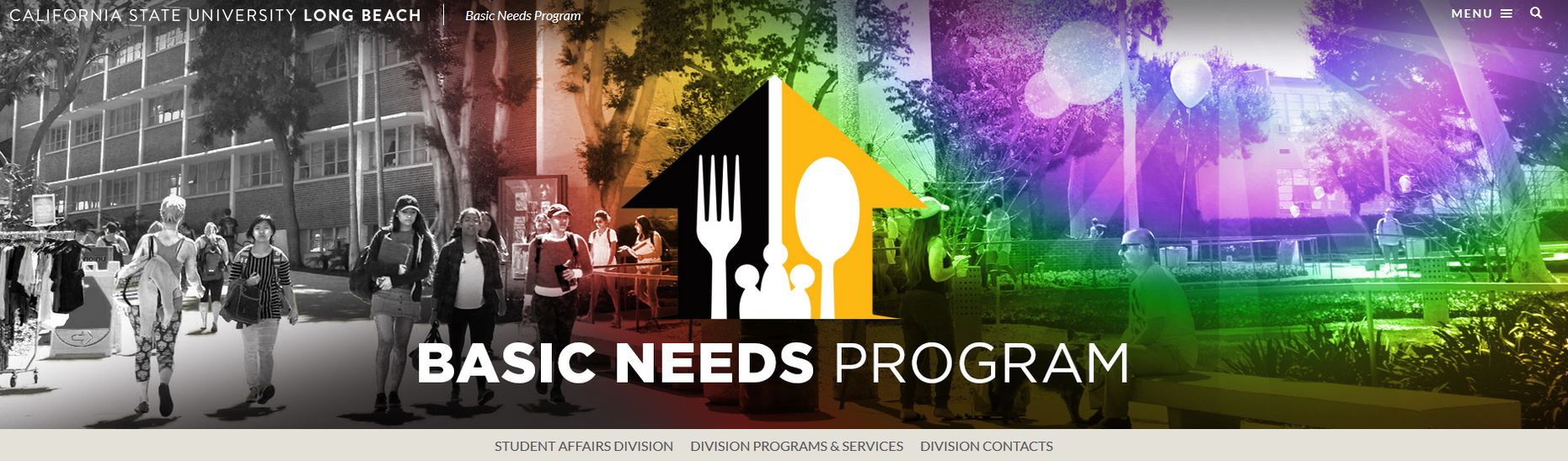 CSUSB Basic Needs website banner