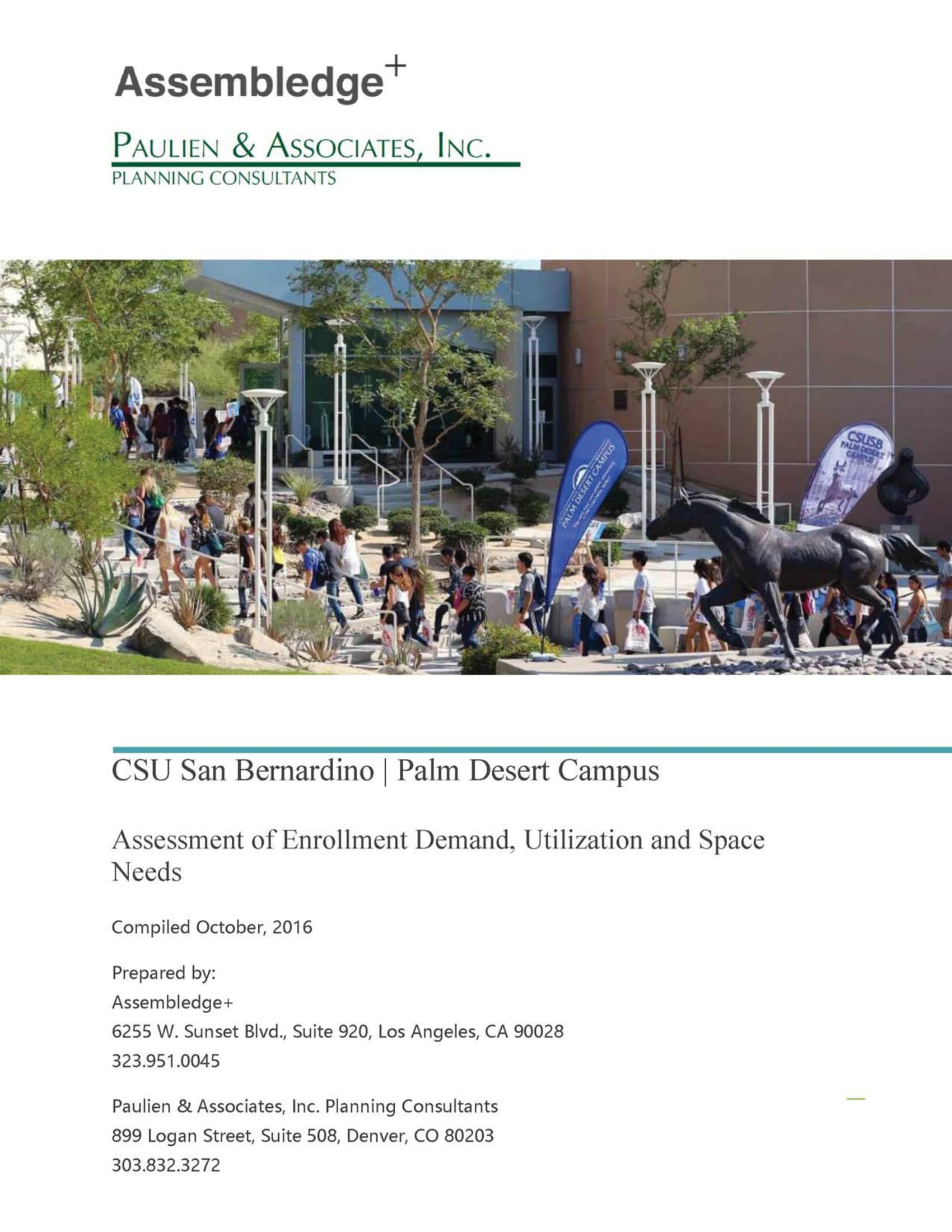 CSUSB PDC Enrollment Demand, Utilization and Space Needs