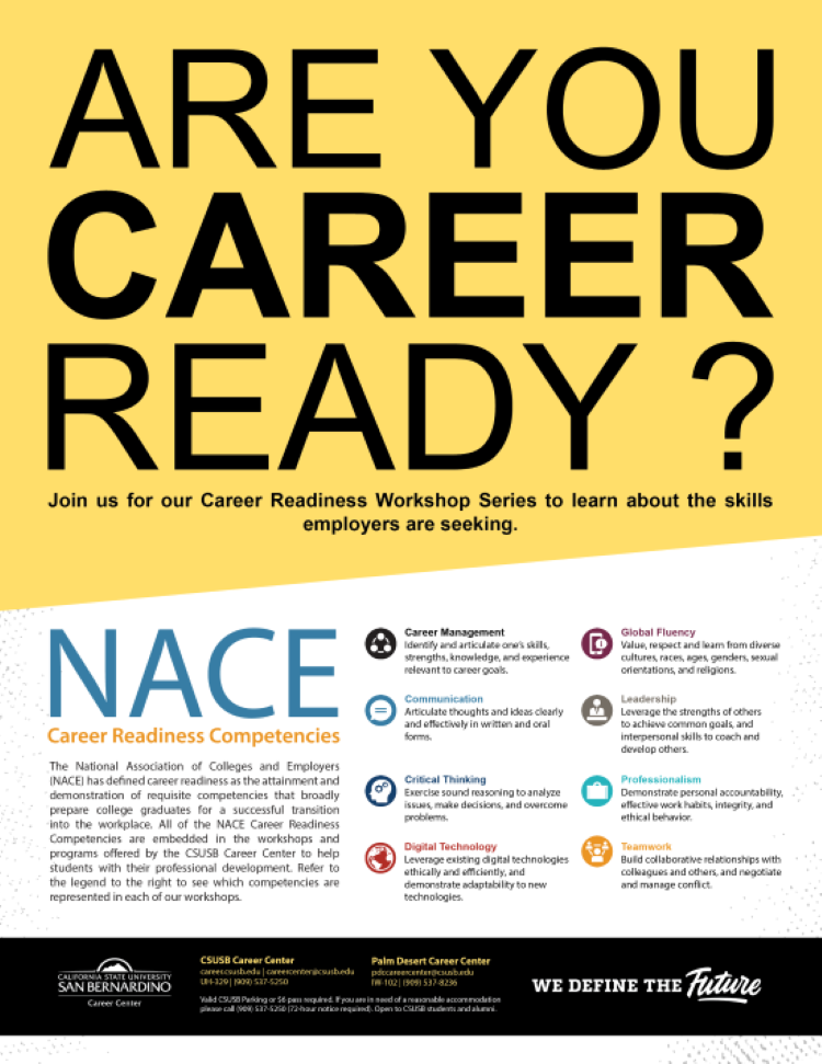 Front of Career Readiness Workshop Flyer