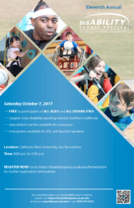 Eleventh Annual DisAbility Sports Festival