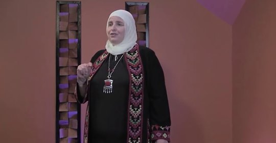 Dr. Ahlam Muhtaseb speaking at TEDx event