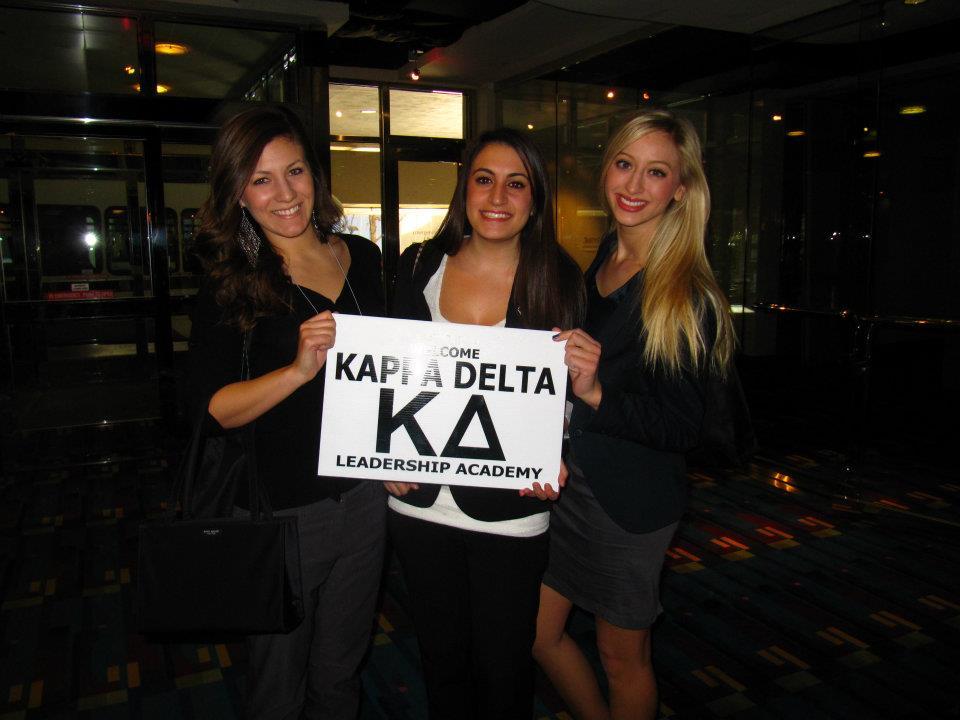 Members of Kappa Delta at leadership conference