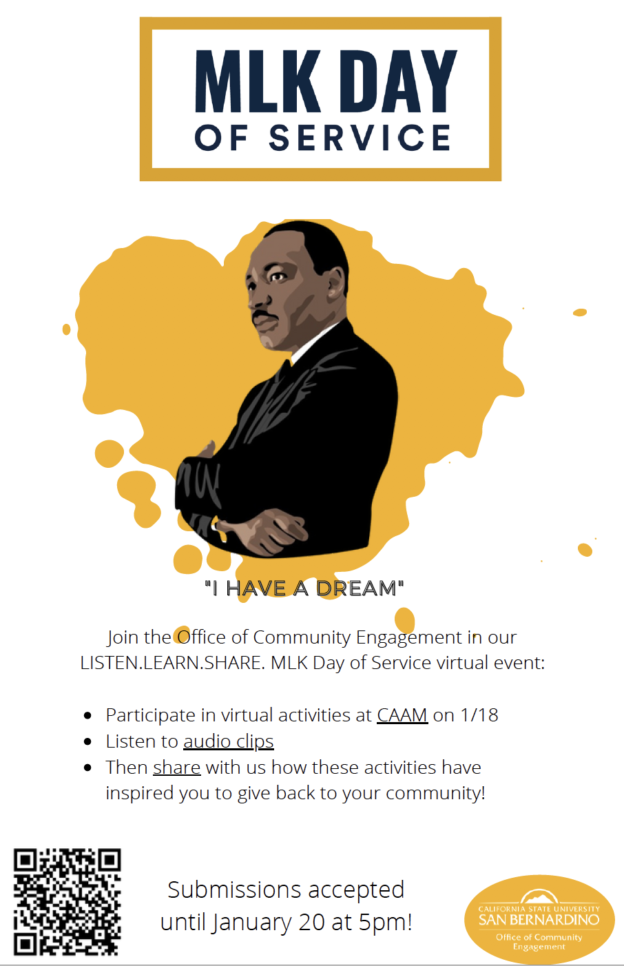 MLK Day of Service Flyer 2021
