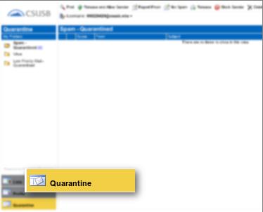 Screenshot of Quarantine option