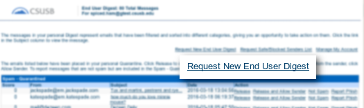 Screenshot of request from your inbox