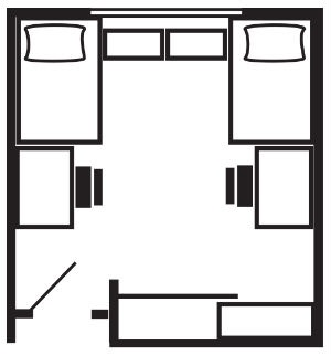 2 Beds Floor Plan