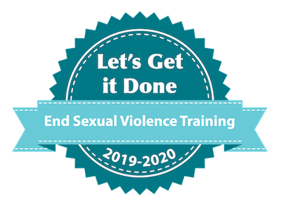 Approval seal for End Sexual Violence Training for 2019-2020