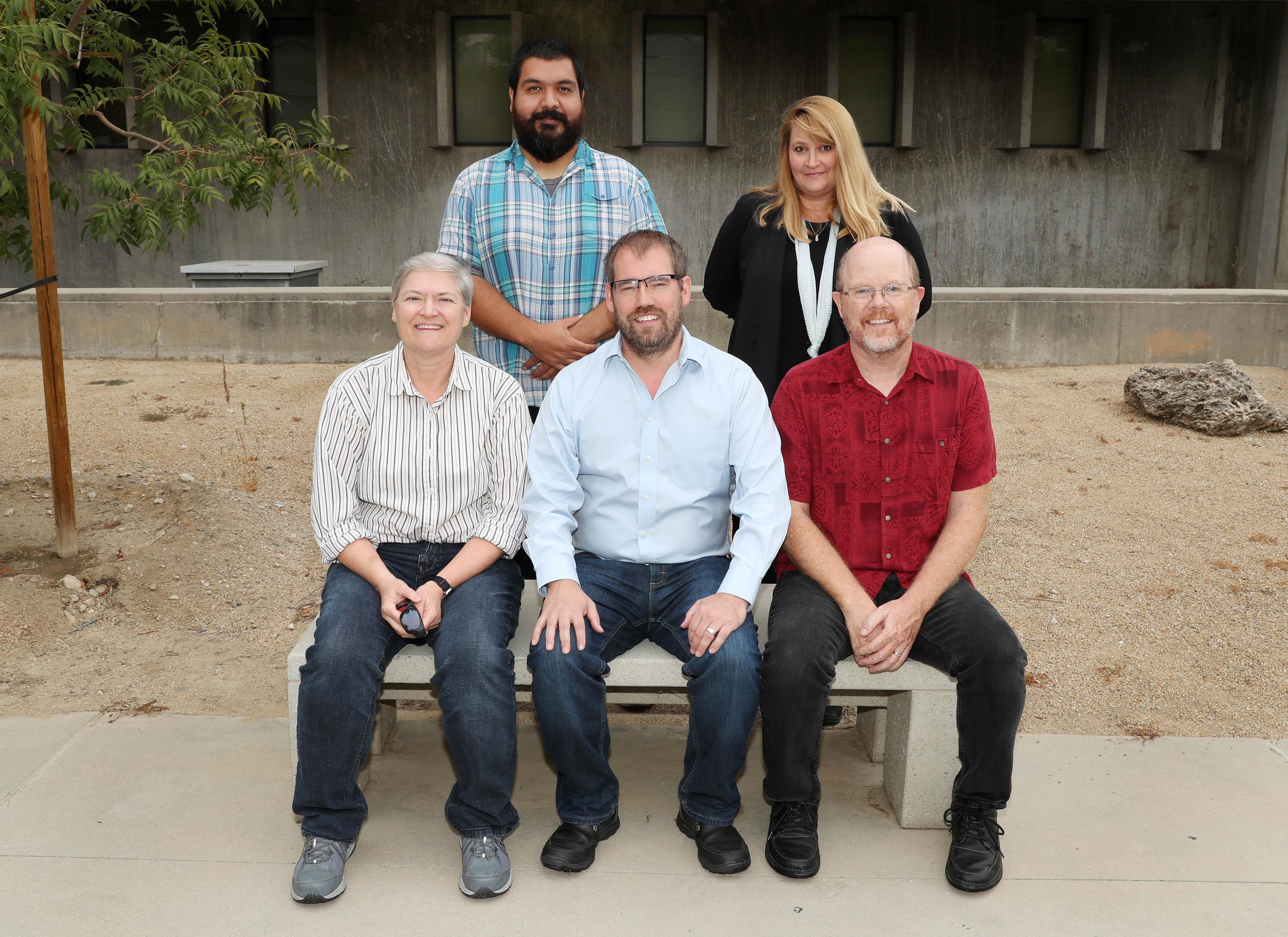"""Top from left:  Ismael """"Izzy"""" Diaz and Janelle Gilbert; bottom from left, Jan Kottke, Mark Agars and Ken Shultz."""