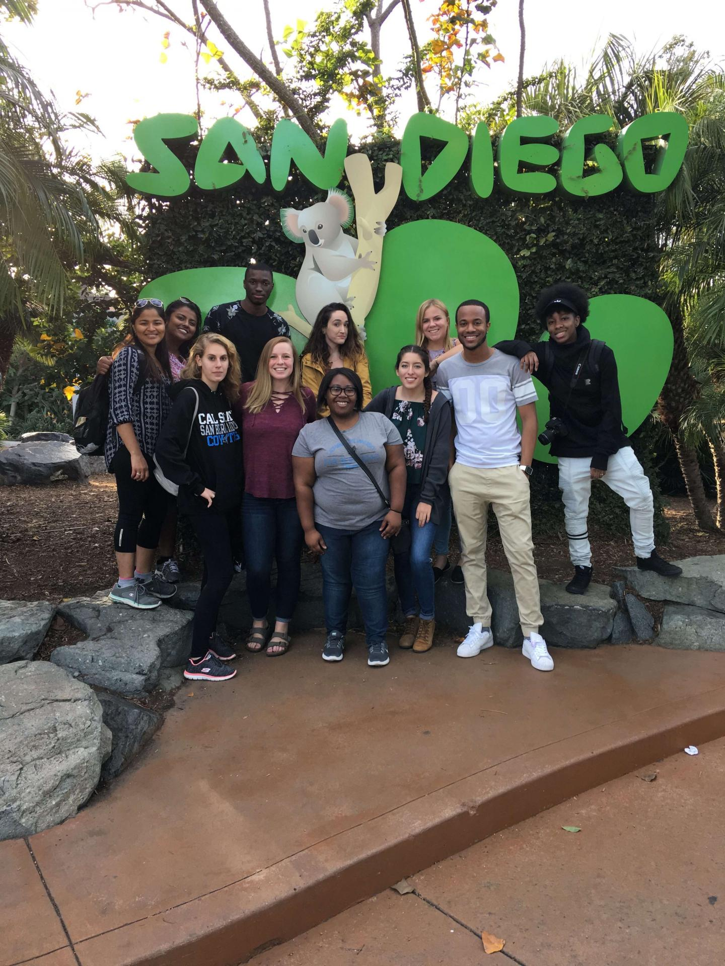 Students in San Diego Zoo