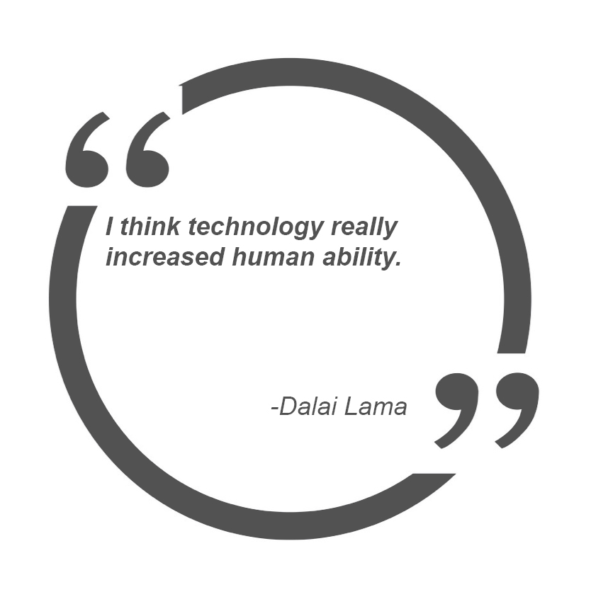 I think technology really increased human ability... - Dalai Lama