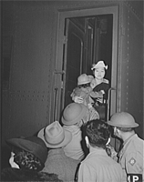 Evacuating Japanese-Americans from West coast areas.