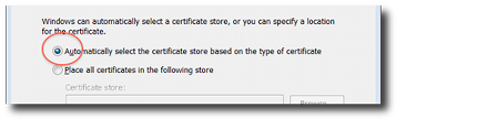 Automatically Select The Certificate Store