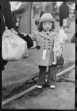 Japanese-American child who will go with his parents to Owens Valley