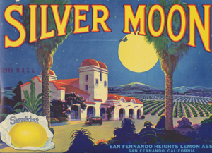 Silver Moon brand citrus label