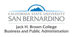 California State University San bernardino, Jack H. Brown College Business & Public Administration