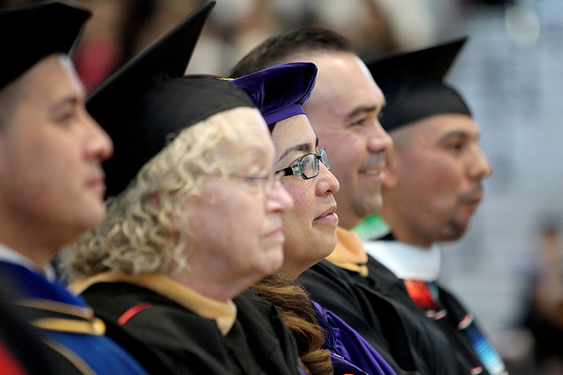 Photo of CSUSB Faculty at Latino Graduation