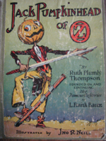 Photo of an OZ book titled Jack Pumpkinhead of OZ