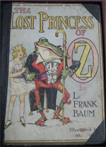 Photo of an OZ book titled The Lost Princess of OZ