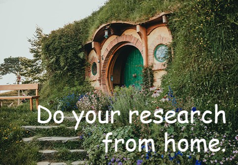Do your research from home.