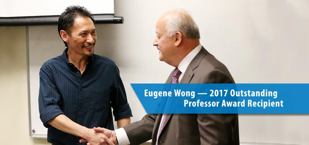 University President, Dr. Tomás Morales, 'ambushes' Dr. Wong in his classroom.