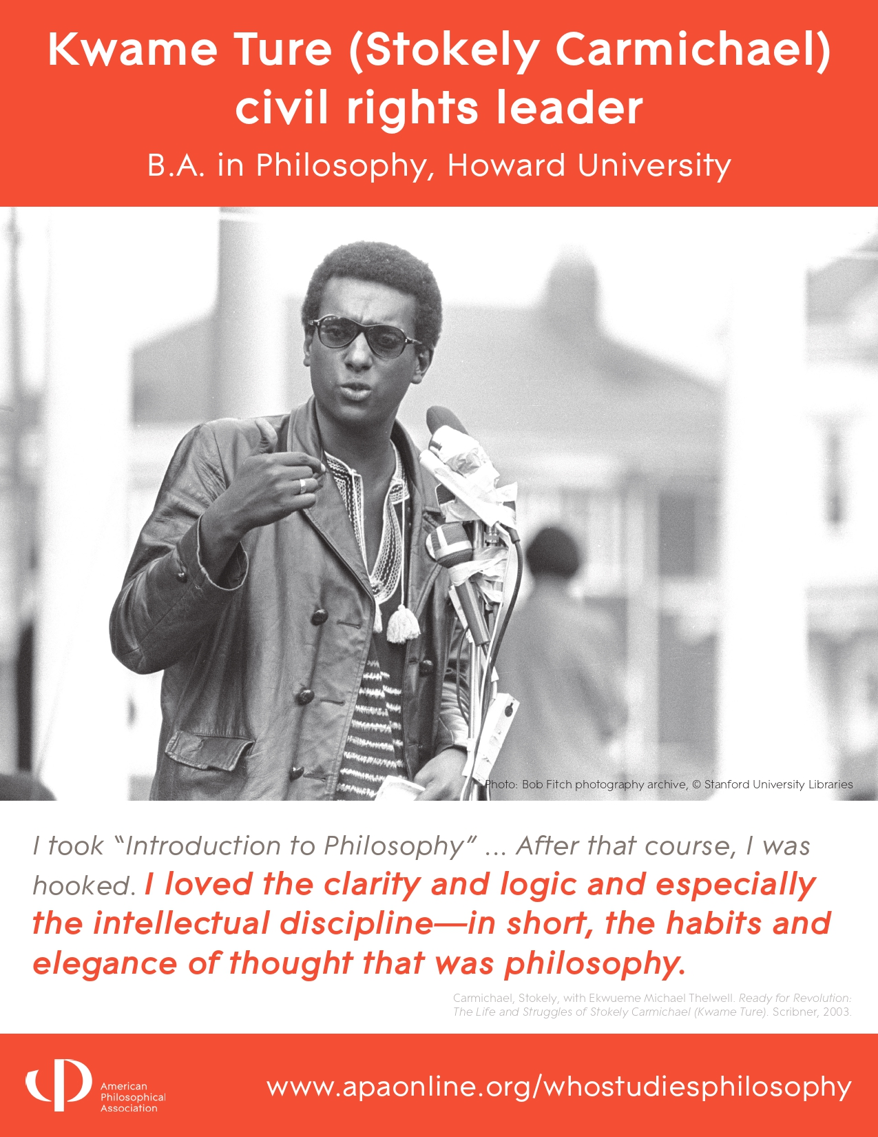 Image- Kwame Ture: Civil Rights Leader